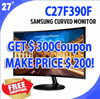 ★MAKE PRICE $200★ SAMSUNG 27inches Curved Monitor C27F390F/ Eyes Comfortable CurvedMonitor