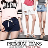 [FREE SHIPPING]All Items 1+1★ All Flat Price★Short Pants / Hot Pants♥Made in KOREA~!]★S/S 2015 Best Selling Premium Jeans in Korea♥free shipping/Skinny Pants/Washed Tight Denim Pants/Slim Pencil Pants