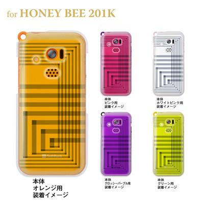 【HONEY BEE ケース】【201K】【Soft Bank】【カバー】【スマホケース】【クリアケース】【トランスペアレンツ】【アングル】 06-201k-ca0021rの画像
