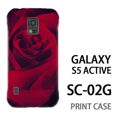 GALAXY S5 Active SC-02G 用『0111 薔薇アップ 赤』特殊印刷ケース【 galaxy s5 active SC-02G sc02g SC02G galaxys5 ギャラクシー ギャラクシーs5 アクティブ docomo ケース プリント カバー スマホケース スマホカバー】の画像
