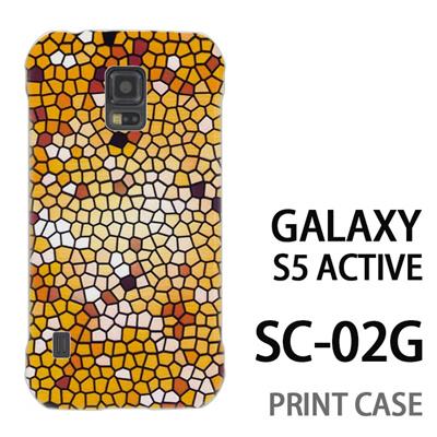 GALAXY S5 Active SC-02G 用『No3 モザイクステンドグラス』特殊印刷ケース【 galaxy s5 active SC-02G sc02g SC02G galaxys5 ギャラクシー ギャラクシーs5 アクティブ docomo ケース プリント カバー スマホケース スマホカバー】の画像