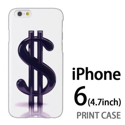 iPhone6 (4.7インチ) 用『1223 ドル 黒』特殊印刷ケース【 iphone6 iphone アイフォン アイフォン6 au docomo softbank Apple ケース プリント カバー スマホケース スマホカバー 】の画像