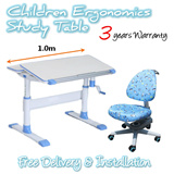 Children Ergonomics Study Table Set / Children Ergonomics Study Desk Set / Kids Study Table / Kids Chair Adjustable Height Table and Chair
