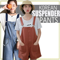【2017.9.1 】Korean Style Women Denim Jeans/Ripped Jeans/ Suspender Pants/Overalls