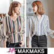 ♣ New Arrival!! Woman Fashion Printing / Jacquard Korea Blouse ♣ Dot/Check/Stripe/Fast Delivary
