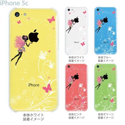【iPhone5c】【iPhone5cケース】【iPhone5cカバー】【クリア ケース】【iPhone】【カバー】【スマホケース】【クリアケース】【イラスト】【フラワー】【フェアリー】 22-ip5c-ca0092の画像