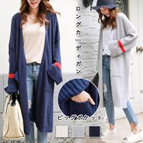 [送料無料]韓国ファッション高品質レディースニットロングカーディガン/ おしゃれなシルエットのファッショ