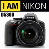 Nikon D5300 AF-S 18-55mm VR II Kit + 8GB CARD + BAG + UMBRELLA + UV FILTER + BALLPOD + CLEANING KIT + TOTE BAG