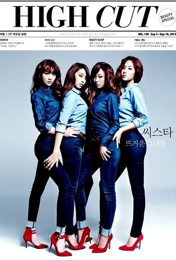 【クリックでお店のこの商品のページへ】少女時代写真3枚贈呈★SISTAR★HIGH CUT 109号 highcut/韓国雑誌
