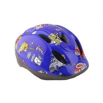 ベル(BELL) ZOOM/ズーム ヘルメット 自転車 サイクリング KIDS&YOUTH キッズ ブルートラックス M/L 52-56 2013877 【子供 安全 スケート 女の子 男の子】の画像