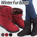 [Stock in SG]★Fast shipping★Time Sale Start!!!★★  [COCO#]1308 Waterproof Winter Warm padding fur boots fur/winter boots/shoes/winter shoes/
