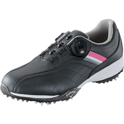 キャロウェイ(Callaway) ウィメンズ アーバンスタイル LS 15 JM ゴルフ スパイク BLK/PNK/SLV 【レディース 靴 シューズ】の画像
