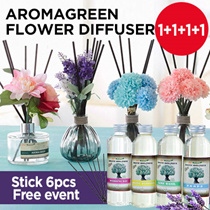 [ONLY $9.9!!] ★1+1+1+1 Free GIFT!!!★ Aroma Green Perfume Diffuser 150ml /15 scents / Made in Korea