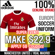 ★1-DAY★ ★ADIDAS★ SQUAD 17 CUSTOM SOCCER UNIFORM / Football Shirts / Manchester United / Chelsea
