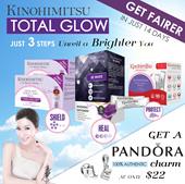 Kinohimitsu Total Glow Bright Fair Skin Set {Prowhite + UV Bright + Be White All in one!}