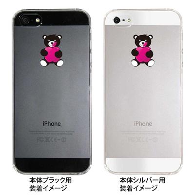 【iPhone5S】【iPhone5】【iPhone5】【ケース】【カバー】【スマホケース】【クリアケース】【アップルを抱えるクマ】 ip5-08-ca0026の画像