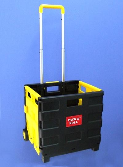 【再入荷】折りたたみキャリーカート(ショッピングカート)/エコバッグ買い物や荷物の運搬・収納にも便利!折りたたみ・組み立て簡単!の画像