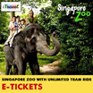 【iTravel eTicket】Singapore Zoo E-Ticket with Unlimited Tram Ride for Adults / Children 新加坡动物园