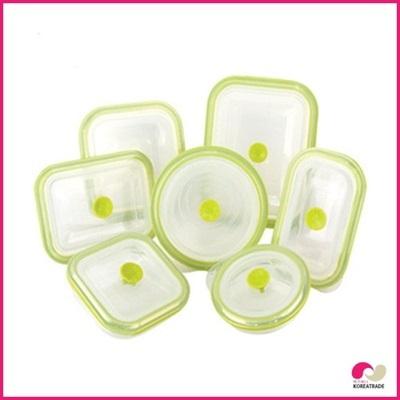 【日用品】 chaeum silicone foodシリコンフードタッパ7種セットHKS-501~HKS-507の画像