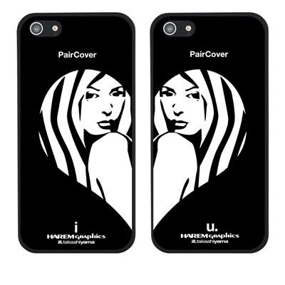 【iPhone5S】【iPhone5】【HAREM graphics】【iPhone5ケース】【カバー】【スマホケース】【ブラックケース】【カップルケース】 HGX-IP5B-110ABの画像