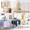 [NEW ARRIVAL PROMO] Big hanging area BR702 foldable extendable Clothes Hanger Rack/2-tier/ 3-tie NR006 Single rod (BL) drying rack/wing type/space saving
