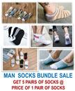 [ORTE] Mega Sale★Man Socks Bundle★Cheapest★Best Quality★Korean Japanese Design★ Fast Delivery
