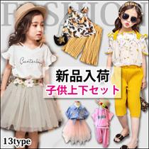 新品追加!夏新作!韓国子供服Sh600-1キッズファッション!大人気上下セット登場!★子供トップス・上着+スカート/パンツ★超可愛い女の子セット!シフォンベストセット・ふわふわ袖Tシャツ+パンツ・セ