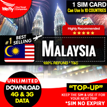 Malaysia simcard : Lowest price data plan. Highspeed 4G Download .For a quick getaway. Low in price