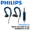 Philips Sports Ear-hook In-ear headphones w/mic / One Year Local Manufacturer Warranty [SHQ3405BL/00]