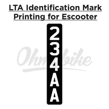 🛴✨LTA Identification Mark Sticker for Escooter✨Escooter Number Plate🌟High Quality 3M Sticker ✅