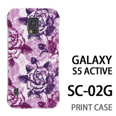 GALAXY S5 Active SC-02G 用『0113 たくさんの薔薇 紫』特殊印刷ケース【 galaxy s5 active SC-02G sc02g SC02G galaxys5 ギャラクシー ギャラクシーs5 アクティブ docomo ケース プリント カバー スマホケース スマホカバー】の画像
