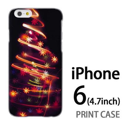 iPhone6 (4.7インチ) 用『1223 花飾りツリー ゴールド』特殊印刷ケース【 iphone6 iphone アイフォン アイフォン6 au docomo softbank Apple ケース プリント カバー スマホケース スマホカバー 】の画像