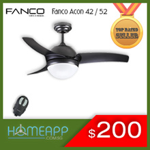 [HomeApp] ★★ FANCO A-CON ACON 42 52 ★★ Ceiling fan with Light n Remote.