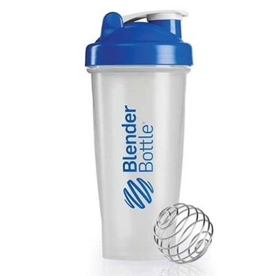 ブレンダーボトル(Blender Bottle) クラシッククリア Classic Clear 28オンス(800ml) ブルー GEX BBCL28 BL 【シェーカー サプリメント プロテイン ミキサー スクイズボトル】の画像