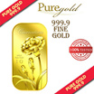 1g Carnation Gold Bar / 999.9 Pure Gold / Singapore Made Gold Bar / Premium Gifts / Collections