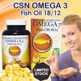 CSN Omega 3 Fish Oil 18/12  isi 60 Softgel Exp Apr 2018 (Promo Discount 2015) *) Persediaan Terbatas