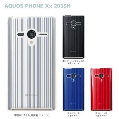 【AQUOS PHONEケース】【203SH】【Soft Bank】【カバー】【スマホケース】【クリアケース】【ライン】 06-203sh-ca0021bの画像