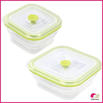 【日用品】 chaeum silicone foodシリコンフードタッパHKS-503HKS-504 2個セットの画像