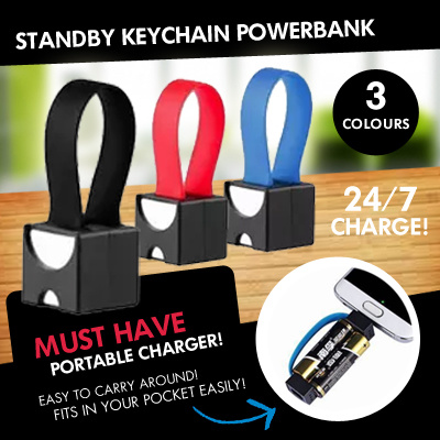Super Small Charge Free/ 24/7 StandBy KeyChain Powerbank. Super Convenience. Deals for only S$19.9 instead of S$0