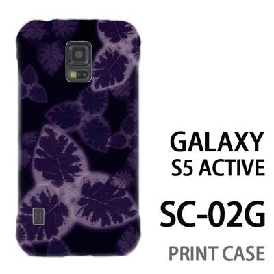 GALAXY S5 Active SC-02G 用『No3 三つ葉模様』特殊印刷ケース【 galaxy s5 active SC-02G sc02g SC02G galaxys5 ギャラクシー ギャラクシーs5 アクティブ docomo ケース プリント カバー スマホケース スマホカバー】の画像