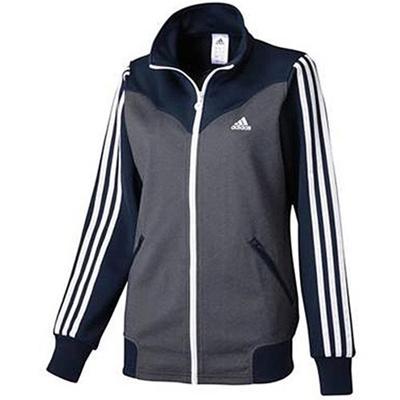 アディダス(adidas) W adidas24/7 ジャージ 3stジャケット(WOMEN'S) ADJ KBZ26 S92936 カレッジネイビー 【レディース ジャージ スポーツウェア ウィンドウェア ジャケット】の画像