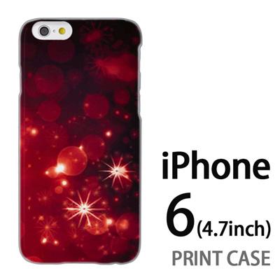 iPhone6 (4.7インチ) 用『1223 雪ネオン 赤』特殊印刷ケース【 iphone6 iphone アイフォン アイフォン6 au docomo softbank Apple ケース プリント カバー スマホケース スマホカバー 】の画像