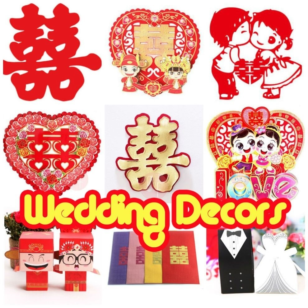 Wedding Gift Box Singapore : Qoo10 - [WEDDING]Wall Sticker/Gift Box/Favors/Favour/Wedding Favours ...