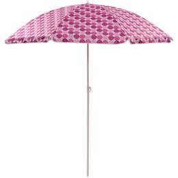 バンドック(BUNDOK) ビーチパラソル UV コーティング 201cm チルト 水玉(ピンク) BD-4D 【 日よけ タープ シェード アウトドア バーベキュー 】