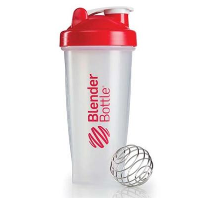 ブレンダーボトル(Blender Bottle) クラシッククリア Classic Clear 28オンス(800ml) レッド GEX BBCL28 RD 【シェーカー サプリメント プロテイン ミキサー スクイズボトル】の画像