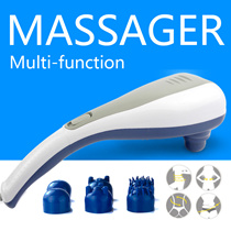 [Buy 1 Get 1 Free Gift]▶Big enough n Real Effect-Detail Point Handheld Electric Massager◀GDD GDE-Changeable Two Massage Head / Improve body function n Promote blood circulation