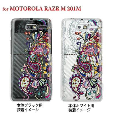 【MOTOROLA RAZR ケース】【201M】【Soft Bank】【カバー】【スマホケース】【クリアケース】【フラワー】【Vuodenaika】 21-201m-ne0030caの画像