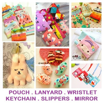 [ORTE] ★Sanrio and Craftholic Sale ★ Children Day Gift ★  Lanyard ★ Bedroom Slippers ★ Sling Bag ★ Pencil Case ★ Pouch ★ Card Holder ★ Pocket Mirrors ★ Keychains ★ Handphone Stand ★ Accessories ★