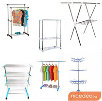 Indoor Outdoor Clothes Drying Rack/ 3 Level/ Double or Single Rod/ Adjustable/ Extendable Hang Dry hanging dry laundry/Stainless steel clothes hanger rack (SQ1984)