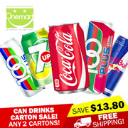 [Carton SALE] ◄ CAN DRINKS ► CHOOSE ANY 2 CARTONS! COKE/COKE LIGHT/7-UP/SEASONS Ice Lemon Tea/PEPSI